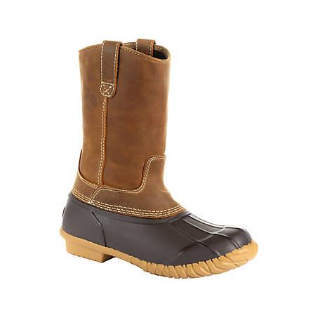 Georgia Boot Men's Marshland Pull-On Waterproof Duck Boot, GB00276