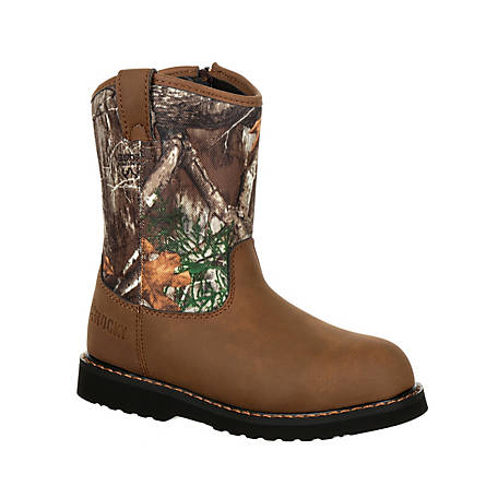 Rocky Boys' Big Kids' Lil Ropers Outdoor Boot, Rks0358Y
