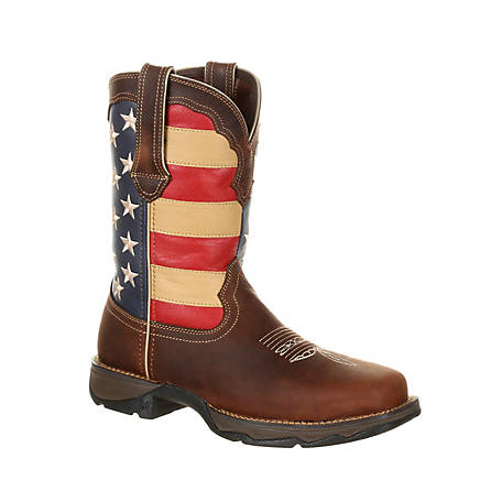 Durango Women's Lady Rebel By Durango Steel Toe Patriotic Flag Work Boot, DRD0234