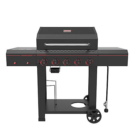 Megamaster 5 Burner Gas Grill with Open Cart, 720-0982