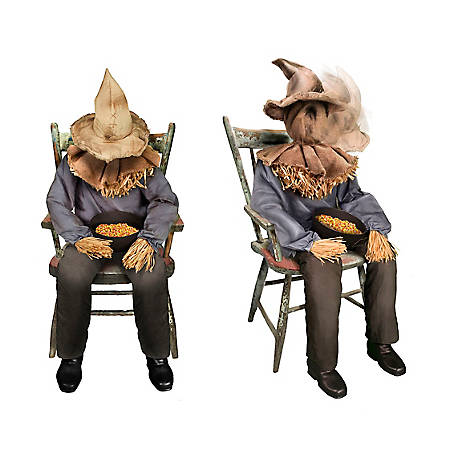 Tekky Pop Up Sitting Scarecrow TK-58521