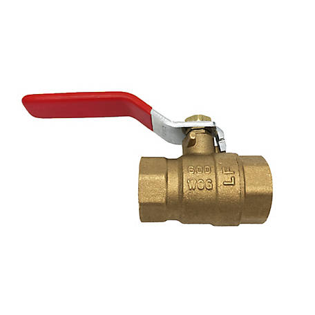 THEWORKS 1-1/2 in. FIP x FIP Brass Threaded Full Port Ball Valve, LFBV107