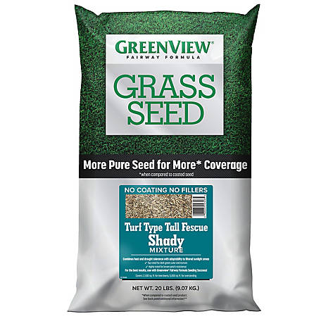 GreenView Fairway Formula Grass Seed Turf Type Tall Fescue Shady Mixture - 20 lb., 2829351
