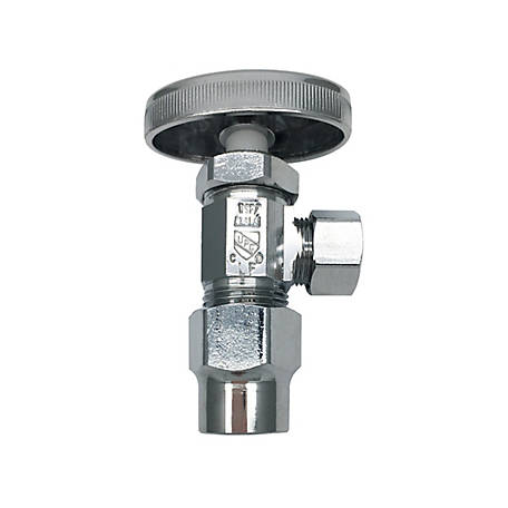 THEWORKS Multi-Turn Angle Stop Valve 1/2 in. CPVC Inlet x 3/8 in. O.D. Compression Outlet, MTS111