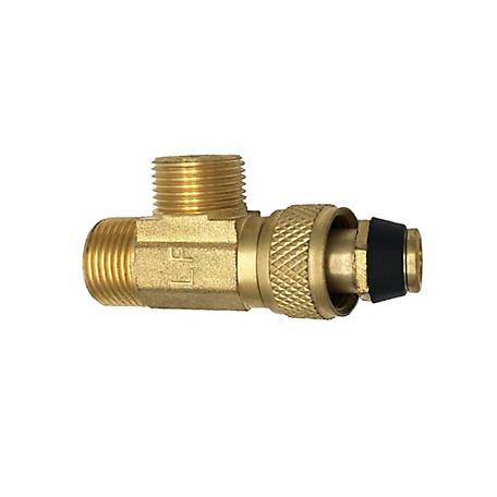THEWORKS Stop Valve Tee Adapter 3/8 in. O.D. Comp Inlet x 3/8 in. O.D. Comp Outlet x 1/4 in. O.D. Comp Outlet, MTS134