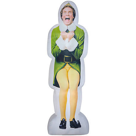 Gemmy Photorealistic Airblown Excited Buddy the Elf Christmas Inflatable, G-110799