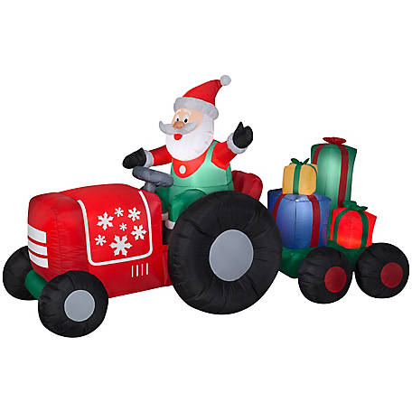 Gemmy Airblown-Santa on Tractor with Presents, G-11801
