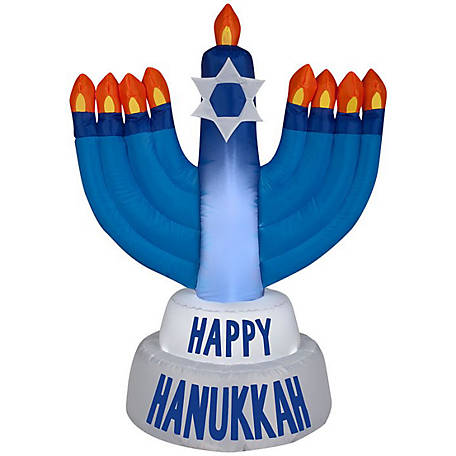 Gemmy Airblown-Outdoor Hanukkah Candles, G-35271
