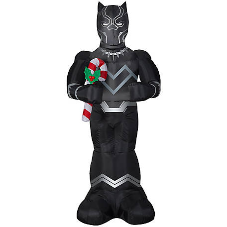 Gemmy Airblown-Black Panther with Candy Cane, G-114759