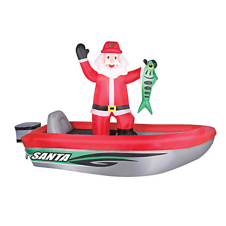 Manley Toys Inflatable Fishing Santa, OC-64657