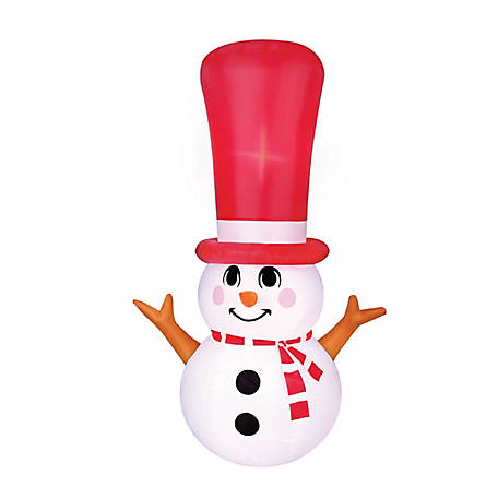 Manley Toys Inflatable Long Hat Snowman, OC-91068