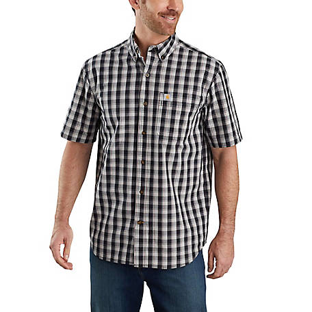 Carhartt Men's Short Sleeve Relax Fit Plaid Shirt, 104174
