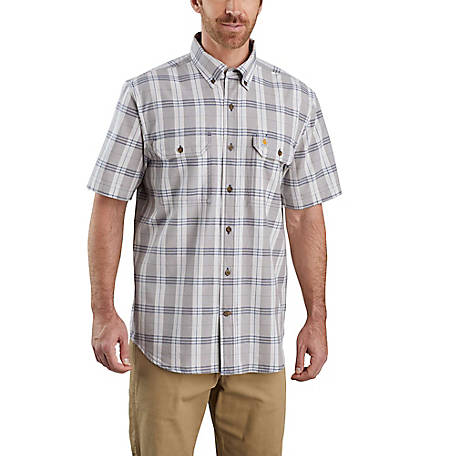 Carhartt Men's Short Sleeve Original Fit Plaid Shirt, 104175