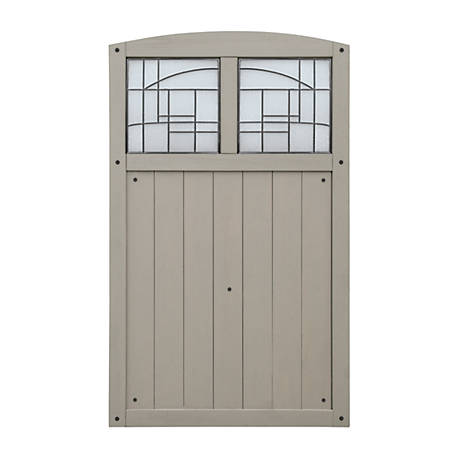 Yardistry Faux Glass Gate Grey, YP11800