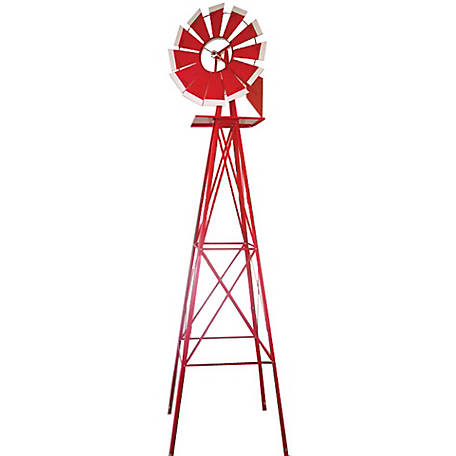 SMV Industries Red with White Accent 8 ft. Windmill 48A-R
