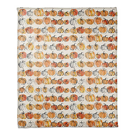 Designs Direct Watercolor Pumpkins 50 x 60 Throw Blanket, 5685-AA