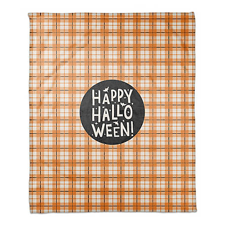 Designs Direct Halloween Plaid 50 x 60 Throw Blanket, 5811-BG