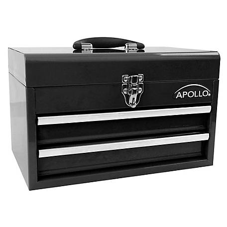 Apollo Tools 2-Drawer Steel Chest, Black, DT5010