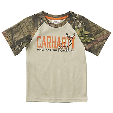Carhartt Boys' Toddler Blt Fr Outdoors Tee Shirt, CA6071 CR08