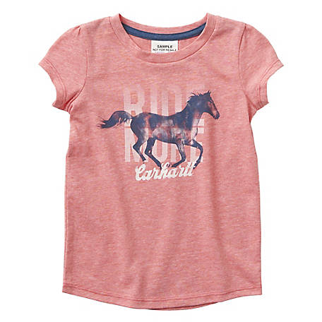 Carhartt Girls' Infant/Toddler Ride More Tee, CA9760 R65H