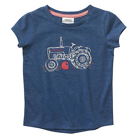 Carhartt Girls' Infant Tractor Tee Shirt, CA9760 N160H