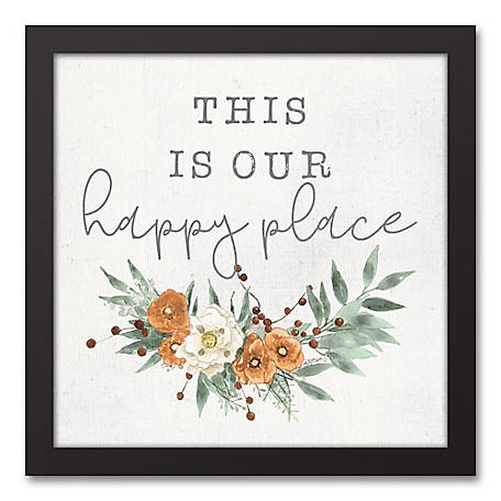 Designs Direct Our Happy Place 12 x 12 Framed Canvas, 5675-R