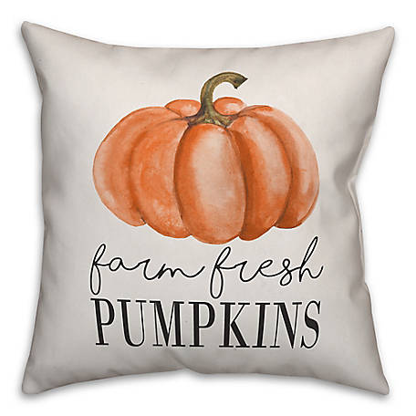 Designs Direct Farm Fresh Pumpkins 18 x 18 Pillow, 5735-AL2