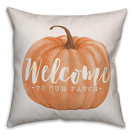 Designs Direct Welcome To Our Patch 18 x 18 Pillow, 5735-AU2