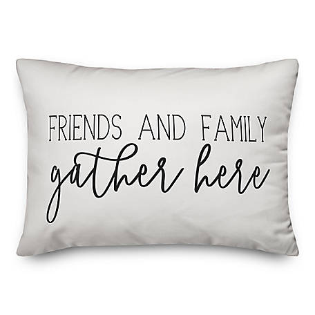 Designs Direct Friends Gather Here 14 x 20 Pillow, 5735-G
