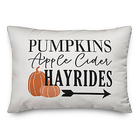 Designs Direct Cider Hayrides 14 x 20 Pillow, 5735-J