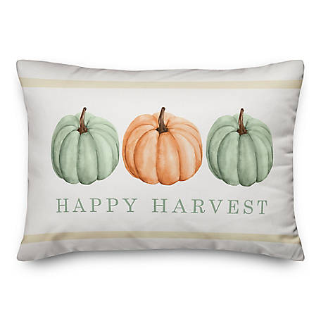 Designs Direct Happy Harvest Pumpkins 14 x 20 Pillow, 5743-AU