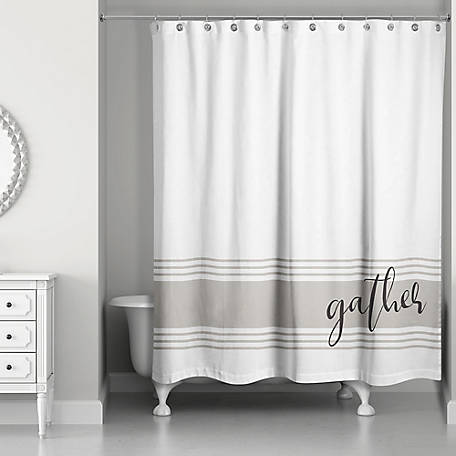 Designs Direct Gather Shower Curtain, 5697-AG