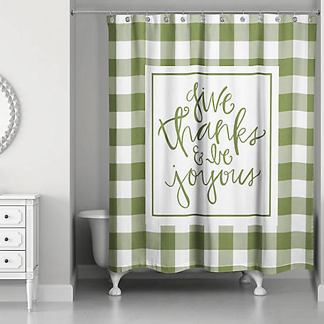 Designs Direct Give Thanks And Be Joyous Shower Curtain, 5697-AM