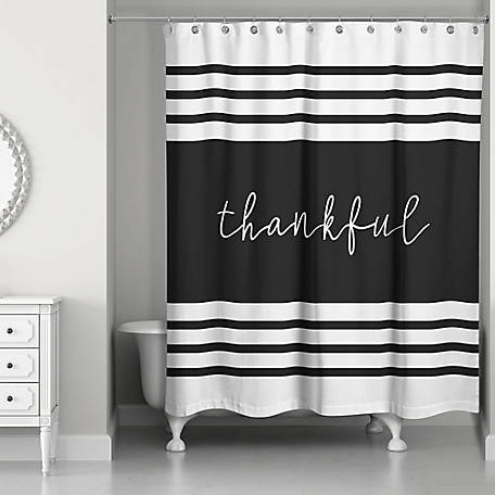 Designs Direct Thankful Shower Curtain, 5735-BX
