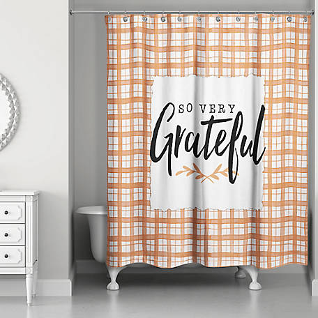 Designs Direct So Very Grateful Shower Curtain, 5735-BY