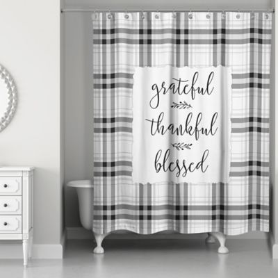 Designs Direct Grateful Thankful Blessed Shower Curtain 5735 Ca At Tractor Supply Co