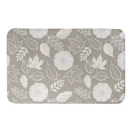 Designs Direct Gray Pumpkin Pattern 34 x 21 Bath Mat, 5676-AZ