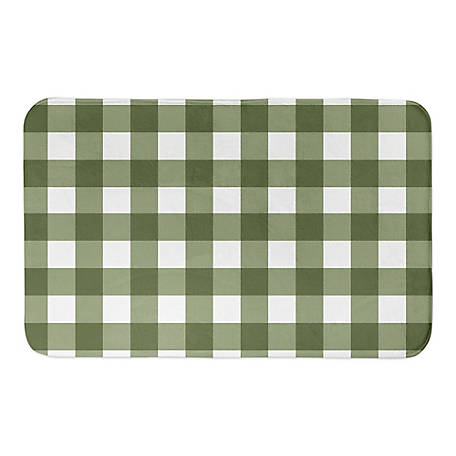 Designs Direct Green Buffalo Check 34 x 21 Bath Mat, 5697-AA