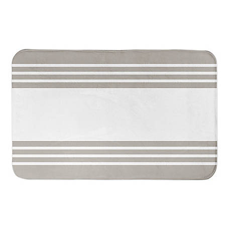 Designs Direct Gray Stripe 34 x 21 Bath Mat, 5697-AB