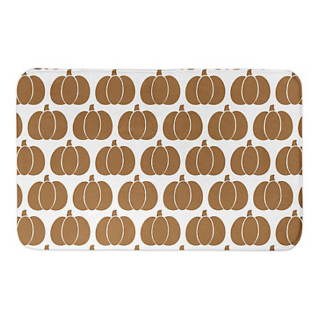 Designs Direct Pumpkin Pattern 34 x 21 Bath Mat, 5697-AD