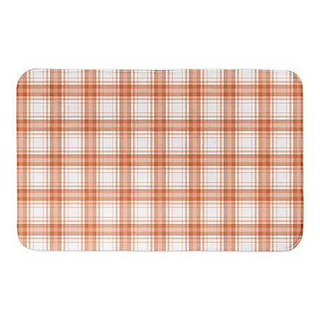 Designs Direct Ornge Plaid 34 x 21 Bath Mat, 5697-AE