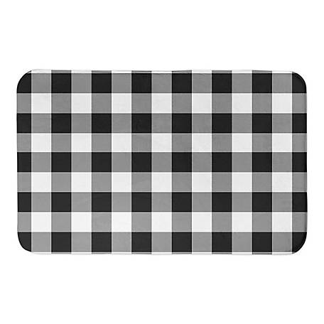 Designs Direct Black Buffalo Check 34 x 21 Bath Mat, 5735-BG