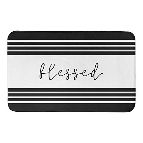 Designs Direct Blessed Stripe 34 x 21 Bath Mat, 5735-BH