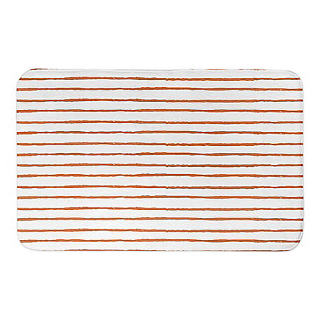 Designs Direct Orange Abstract Stripes 34 x 21 Bath Mat, 5735-BJ