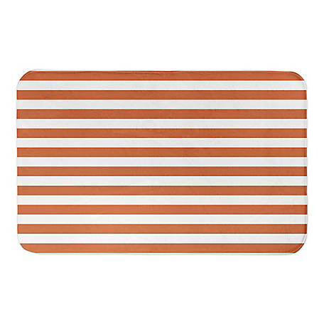 Designs Direct Orange Strp 34 x 21 Bath Mat, 5735-BL