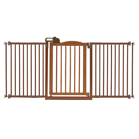 Richell One-Touch Gate Ii Wide Brown 94932