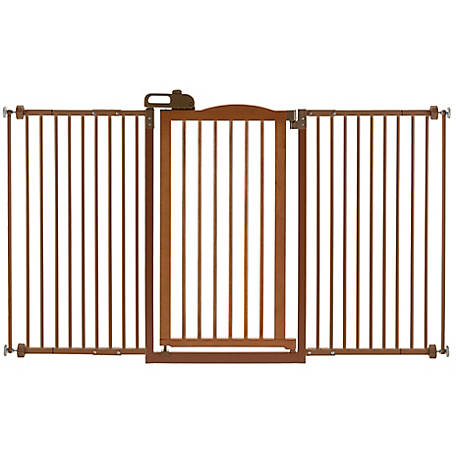Richell Tall One-Touch Gate II Wide, Brown, 94934