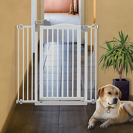 Richell Tall One-Touch Gate II, White, 94931