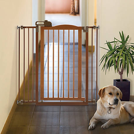 Richell Tall One-Touch Gate II, Brown, 94930