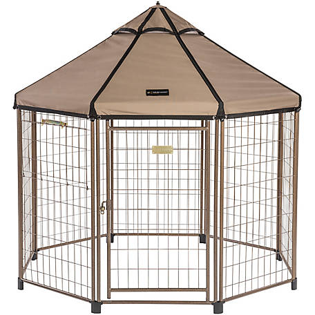 Advantek Pet Gazebo with Earth Taupe Canopy, 5 ft., 23405